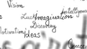 Sömlös ögla av inspirerande ord med alfabetiskmatten - 4K