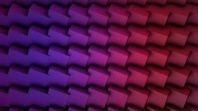 Sömlös ögla för färgrika kuber Abstrakt begrepp skära i tärningar slumpmässig rörelse för bakgrund, animering för 3d Loopable Vio Royaltyfria Foton