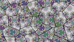 Sömlös ögla för mosaisk kalejdoskopisk vj stock video