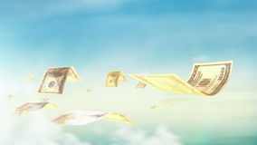 Sömlös ögla, realistisk animering av pengar Ekonomiskt och affärsidé vektor illustrationer