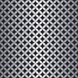 Sömlös överlappande cirkelmodell i silver och svart vektor illustrationer
