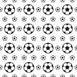 Sömlös översiktsmodelldesign av fotboll royaltyfri illustrationer
