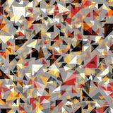 Sömlös abstrakt bakgrund för modetriangel Arkivbild