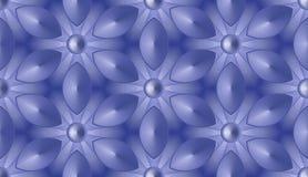 Sömlös abstrakt bakgrund - fantastiska blommor i sexhörniga celler royaltyfri illustrationer