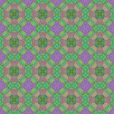 Sömlös abstrakt färgrik textur eller bakgrund med den circlular modellen Royaltyfri Illustrationer