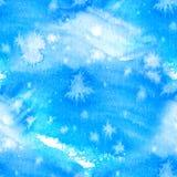 Sömlös abstrakt färgrik vattenfärg för bakgrund Räcka målat färgpulver den sömlösa modellen med abstrakt himmel och moln Royaltyfri Bild