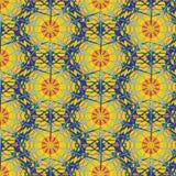 Sömlös abstrakt flerfärgad spindelväv modell Royaltyfria Bilder