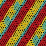 Sömlös abstrakt flerfärgad tilltrasslad modell Arkivbild