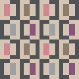Sömlös abstrakt geomatric färgrik PIXELfyrkantmodell Royaltyfria Bilder