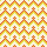 Sömlös abstrakt geomatric orange PIXELmodell i vektor Fotografering för Bildbyråer
