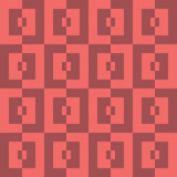 Sömlös abstrakt geomatric patternk för röd fyrkant för PIXEL Royaltyfri Fotografi