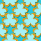 Sömlös abstrakt geometrisk modell 3d blå orange för bakgrund royaltyfri illustrationer