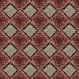 Sömlös abstrakt geometrisk modellmörkerbakgrund Royaltyfria Bilder