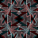 Sömlös abstrakt geometrisk modellmörkerbakgrund Fotografering för Bildbyråer