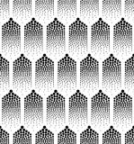 Sömlös abstrakt geometrisk prickbakgrund Royaltyfri Foto