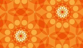 Sömlös abstrakt geometrisk vektormodell med cirklar Arkivfoto