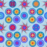 Sömlös abstrakt gladlynt färgrik modell Fotografering för Bildbyråer