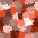Sömlös abstrakt grunge befläckte modellen i brunt, beiga, apelsin, G Fotografering för Bildbyråer