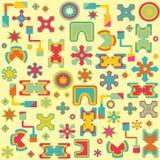 Sömlös abstrakt ljus geometrisk bakgrund Royaltyfri Illustrationer