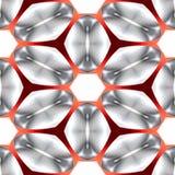 Sömlös abstrakt metallisk ren enkel textur eller bakgrund med den reticular röda strukturen Vektor Illustrationer