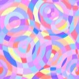 Sömlös abstrakt modell med cirklar Royaltyfri Illustrationer