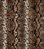 Sömlös abstrakt modell på en hudtextur, orm arkivbild