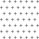 Sömlös abstrakt modell som skapas från upprepning av plus teckensymboler stock illustrationer