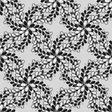 Sömlös abstrakt modellbakgrund för vektor med svartvitt Royaltyfria Bilder