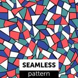 Sömlös abstrakt mosaikmodell multicolor stock illustrationer
