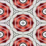 Sömlös abstrakt röd rund geometrisk modell eller bakgrund Vektor Illustrationer
