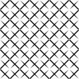 Sömlös abstrakt svartvit fyrkantig rastermodell - rastrerad vektorbakgrundsdesign från diagonala rundade fyrkanter stock illustrationer