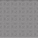 Sömlös abstrakt svartvit illusionmodell för op konst stock illustrationer