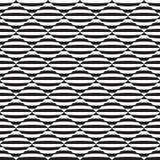 Sömlös abstrakt svartvit illusionmodell för op konst vektor illustrationer