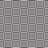 Sömlös abstrakt svartvit illusionmodell för op konst royaltyfri illustrationer