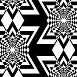 Sömlös abstrakt svartvit modell Royaltyfri Fotografi