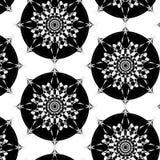 Sömlös abstrakt svartvit modell Arkivfoto
