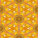 Sömlös abstrakt textur eller bakgrund för orange guling geometrisk med olje- cirklar Vektor Illustrationer