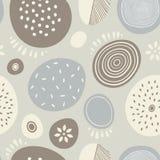 Sömlös abstrakt vektormodell med cirklar Royaltyfri Foto