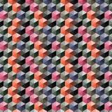 Sömlös abstrakt vektormodell med flerfärgade kuber 3d Royaltyfri Fotografi
