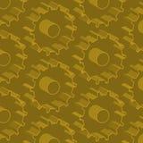 Sömlös abstrakt vektormodell med kugghjul 3d Royaltyfri Fotografi
