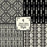 Sömlös abstrakt vektormodelltextur i svartvit bakgrund Royaltyfria Foton