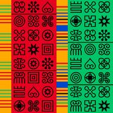 Sömlös afrikanAdinkra modell stock illustrationer