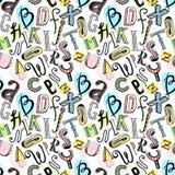 Sömlös alfabetfärg Royaltyfri Bild