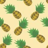 Sömlös ananasmodell Arkivfoton