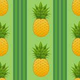 Sömlös ananasmodell Royaltyfri Bild