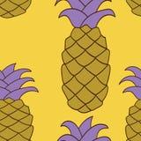 Sömlös ananasmodell också vektor för coreldrawillustration Arkivbilder