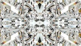 Sömlös animering av abstrakt färgrik geometrisk crystal bakgrund för kalejdoskop för exponeringsglas- eller spegelformrörelse gra stock illustrationer