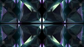 Sömlös animering av den abstrakta färgrika geometriska crystal modellen för textur för bakgrund för exponeringsglas- eller spegel royaltyfri illustrationer