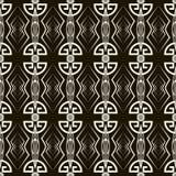 Sömlös antik modellprydnad Stilfulla lodisar för geometrisk art déco Royaltyfria Foton