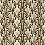 Sömlös antik modellprydnad Stilfulla lodisar för geometrisk art déco Royaltyfri Bild